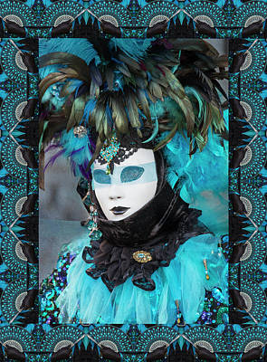 Digital Manipulation Photograph - Elaborate Costume For Carnival Venice by Darrell Gulin