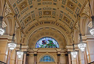 Interior Of St Georges Hall Liverpool Uk Art Print by Ken Biggs
