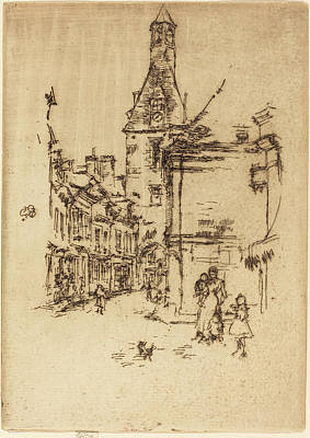 Amboise Drawing - James Mcneill Whistler American, 1834 - 1903 by Quint Lox