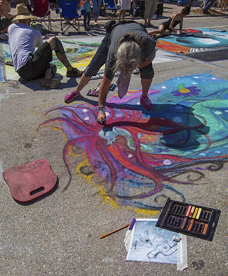 Oil Painter Photograph - Lake Worth Street Painting Festival by Debra and Dave Vanderlaan