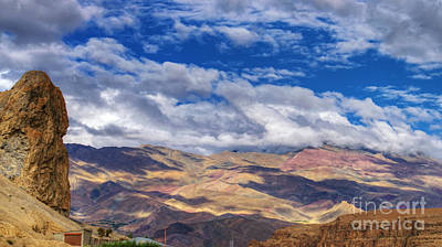 Sheep - Landscape of Ladakh Jammu and Kashmir India by Rudra Narayan  Mitra