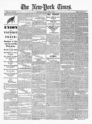 Lee's Surrender, 1865 Print by Granger