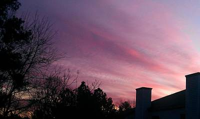 Sunsets Photograph - Sky Awash With Color by Kenny Glover