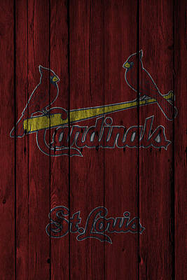 Glove Photograph - St Louis Cardinals by Joe Hamilton