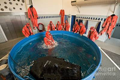Submarine Rescue Unit Training Art Print by Alexis Rosenfeld