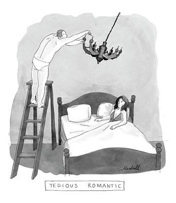 Marshall-hopkins Drawing - Tedious Romantic by Marshall Hopkins