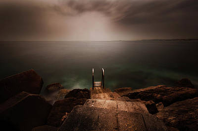 Ladder Photograph - Untitled by Massimo Della Latta