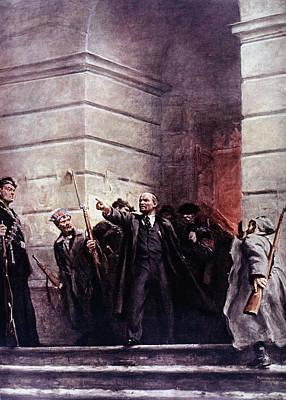 Staircase Painting - Vladimir Lenin (1870-1924) by Granger