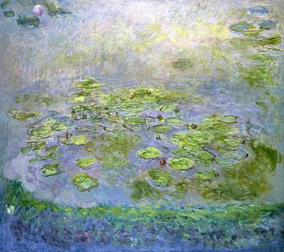 Lilies Digital Art - Water Lilies by Claude Monet