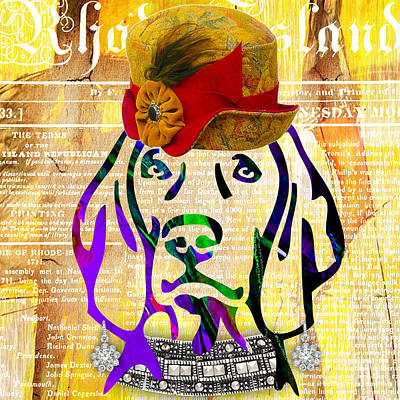 Pet Portraits Mixed Media - Weimaraner Collection by Marvin Blaine