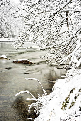 Williams River Scenic Backway Photograph - Winter Along Williams River by Thomas R Fletcher