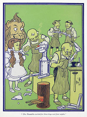 The Tin Man Drawing - Wizard Of Oz, 1900 by Granger