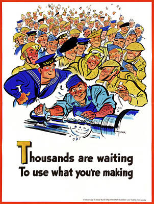 Munitions Painting - Wwii Poster, C1943 by Granger
