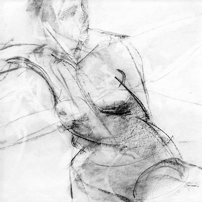 Female Drawing - Rcnpaintings.com by Chris N Rohrbach