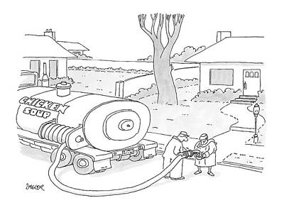 Truck Drawing - New Yorker March 17th, 2008 by Jack Ziegler