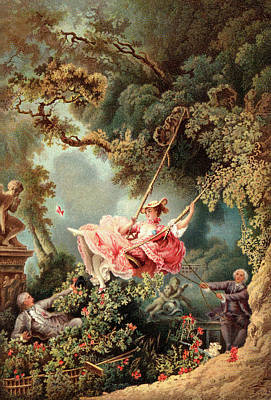 1700s 1767 The Swing By French Painter Art Print
