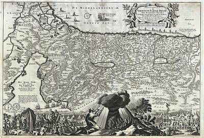 Etc. Egypt Photograph - 1702 Visscher Stoopendaal Map Of Israel by Paul Fearn