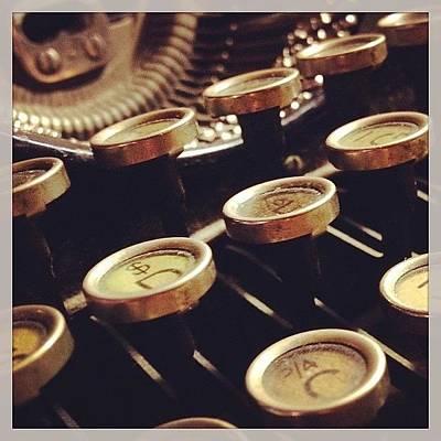 Typewriter Photograph - Instagram Photo by Christine Hooley