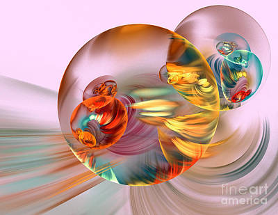 Concentration Digital Art - Colorful Abstract Forms by Odon Czintos