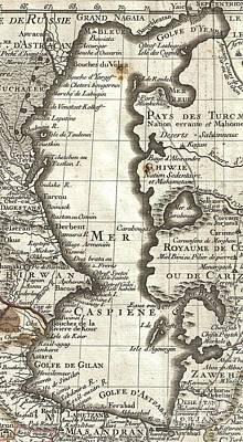 1724 De Lisle Map Of Persia Iran Iraq Afghanistan Art Print