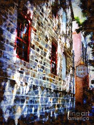 Stone Buildings Photograph - 1758 Sun Inn Bethlehem Pa by Janine Riley