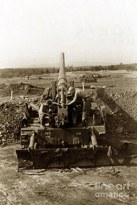 Photograph - 175mm Self Propelled Gun C 10 7-15th Field Artillery Vietnam 1968 by California Views Archives Mr Pat Hathaway Archives