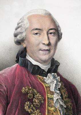 1761 Contemporary Portrait Comte Buffon Art Print