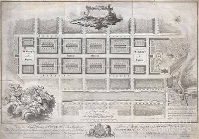 1768 James Craig Map Of New Town Edinburgh Scotland  Print by Paul Fearn