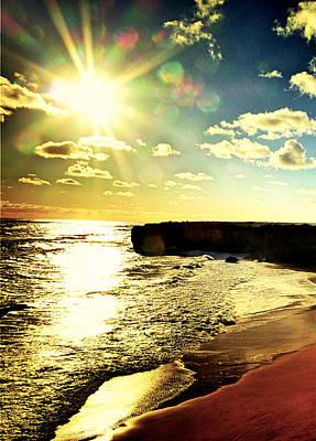 Wall Hanging Photograph - Bright Sunset by Girish J