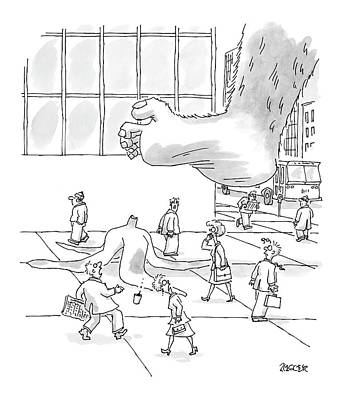 Banana Drawing - New Yorker October 18th, 2004 by Jack Ziegler