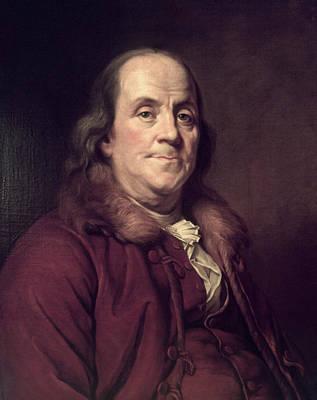 Education Painting - 1770s 1778 Benjamin Franklin Portrait by Vintage Images