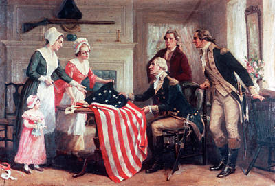 1770s Painting Of Betsy Ross & Art Print