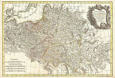 It Polish Photograph - 1771 Zannoni Map Of Poland And Lithuania by Paul Fearn