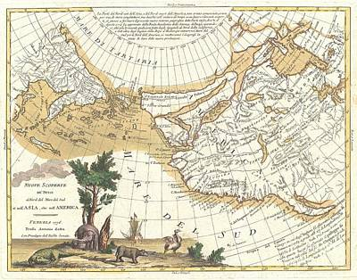 1776 Zatta Map Of California And The Western Parts Of North America Art Print by Paul Fearn