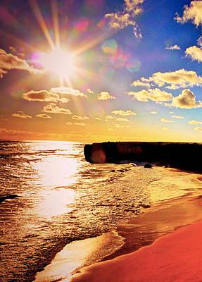 Coy Fish Michael Creese Paintings - Bright sunset by Girish J