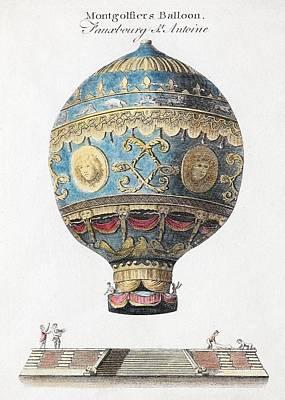 Xvi Photograph - 1783 Montgolfiers First Manned Balloon by Paul D Stewart