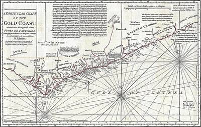 1794 Boulton And Anville Wall Map Of Africa  Art Print