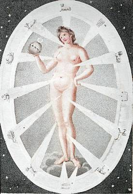 Eve Photograph - 1794 Eve's Creation And The Zodiac Woman by Paul D Stewart