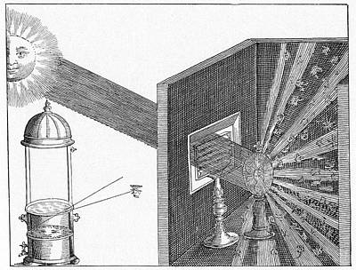 1600s Wall Art - Photograph - 17th Century Optics Experiment by Cci Archives