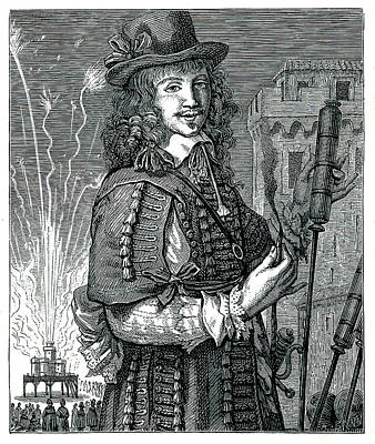 17th Century Pyrotechnist Art Print by Collection Abecasis