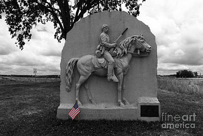 17th Pennsylvania Cavalry Monument Gettysburg Print by James Brunker