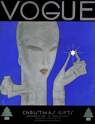 Gift Photograph - A Vintage Vogue Magazine Cover Of A Woman by Eduardo Garcia Benito