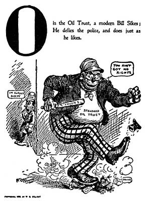 Monopoly Painting - Anti-trust Cartoon, 1902 by Granger