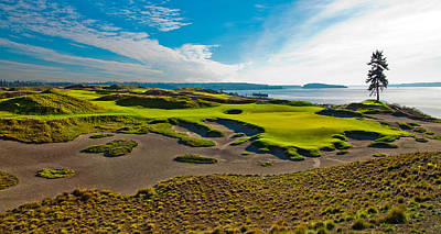 Us Open Photograph - #15 At Chambers Bay Golf Course IIi by David Patterson