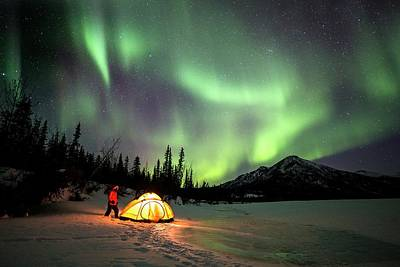Photograph - Aurora Borealis In Alaska by Chris Madeley