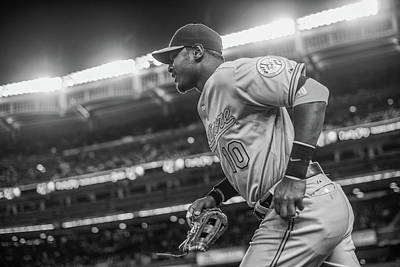 Photograph - Baltimore Orioles V New York Yankees by Rob Tringali