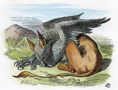 Griffin Drawing - Carroll Alice, 1865 by Granger