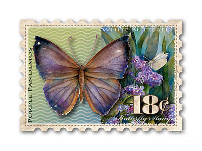 Painting - 18 Cent Butterfly Stamp by Amy Kirkpatrick