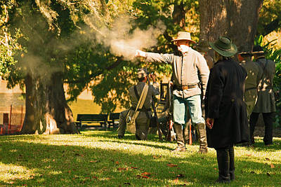Photograph - Cival War Reenactment At The Shadows On The Teche New Iberia Louisiana by Ronald Olivier