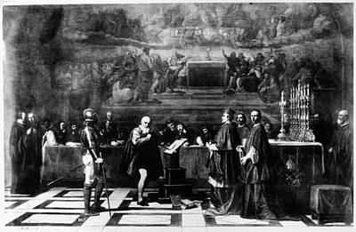 Inquisition Painting - Galileo Galilei (1564-1642) by Granger